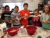 Making salt dough maps of North Carolina!