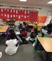 Collaborative conversations are all the buzz in Ms. Reid's class!