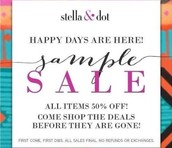 All Samples are 40-60% off prices marked