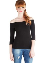 Cafe Parfait Top in Noir