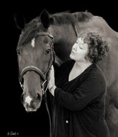 S.E. Hinton with her horse