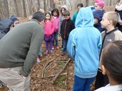 Science lesson on the Nature Trail