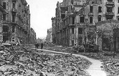 A picture of the after math of when Germany attacked Poland