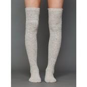 Tall Gray Socks