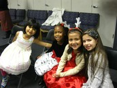 1st Grade waiting to take the stage!