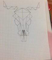 Graphic design using math in Myrick's Geometry class.