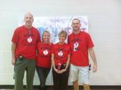Hoops for Heart PE team