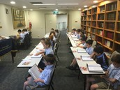 Yrs 1 - 4 davening in the Beis Midrash