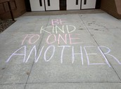 We were chalked! #KindnessInChalk