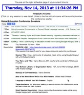 Step 2: View the Conference Schedule