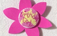 Cross Stitch Brooches