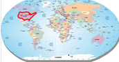 אזורי גידול עיקריים על המפה