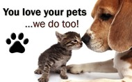 We are pet friendly!!!