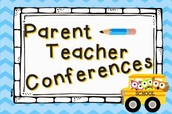 Parent/teacher conferences are this week!