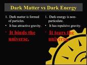 Dark Matter vs Dark Energy