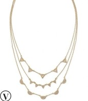 PAVÉ CHEVRON NECKLACE N483 - $53