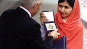 Malala winning the noble prize