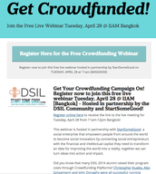 Get Your Crowdfunding Campaign On! Watch the recording of the  free live webinar held  April 29th!