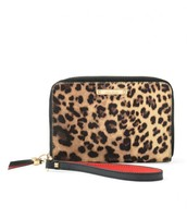 Chelsea Tech Wallet-Leopard