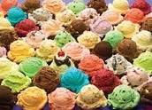Different exotic flavour of Ice Cream!