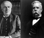 Thomas Edison and George Westinghouse