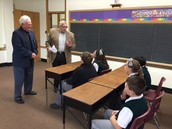 Student/Parish Ushers Begin Their Training