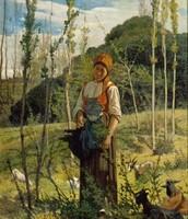 Contadina nel bosco, Fattori, 1860-61