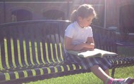 Reading in the morning sun....