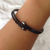Radiance Coil Bracelet - Black
