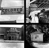 Whites Only and Colored Only Signs