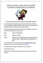 Speech and Language Therepy