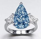 Rare blue diamond