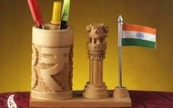 Indian-Emblems-Pen-Stand-carved-in-pure-White-wood