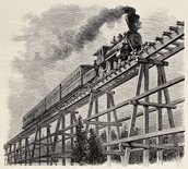 A picture of the first transcontinental railroad