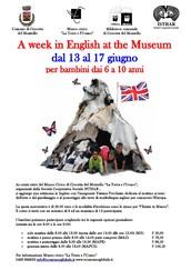 Una Settimana In Inglese al Museo - dal 13 al 17 Giugno