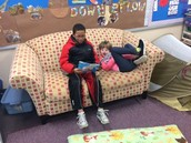 Reading to our friends