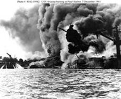 Burning Battleship/Destroyer Wreckage