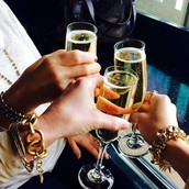 Enjoy a glass of wine with friends