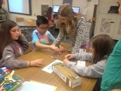 4th grade using little bits synth circuits to create sounds!