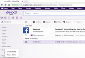 Yahoo mail: Use of folders and sub folders to manage your yahoo mail account easily.