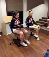 KHS Cheerleaders visit the KPS Library