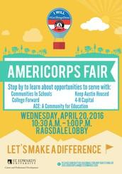 AmeriCorps Fair, Wednesday, April 20th