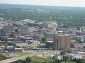 here is the city before the tornado