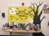 Scary book display
