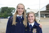 Cassie and Tiffany @ State Livestock Evaluation CDE