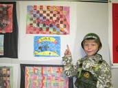 3rd Grade Art Display