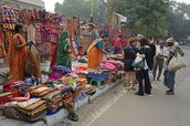 Mercado en la calle.