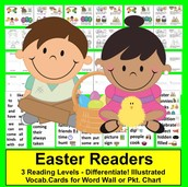 Easter Readers - 3 Reading Levels