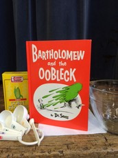 Making Oobleck in Kindergarten! Try this at home...your children will love it!