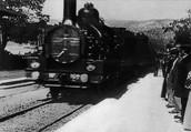 L'arribada del tren a l'estació de la citat